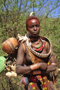 Hamer Woman with traditional clothing