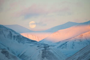 Vollmond, Longyearben, Svalbard