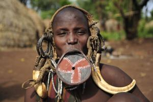 Mursi Woman, Mago Nationalpark