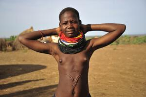 Nyangatom Girl with decorative scars