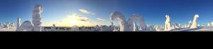 Sonnenuntergang, Riisitunturi Nationalpark, Posio, Finnland