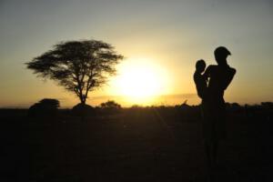 Silhouette Omorate, Southern Ethiopia