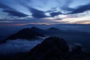 Sonnenuntergang Latemar, Dolomiten